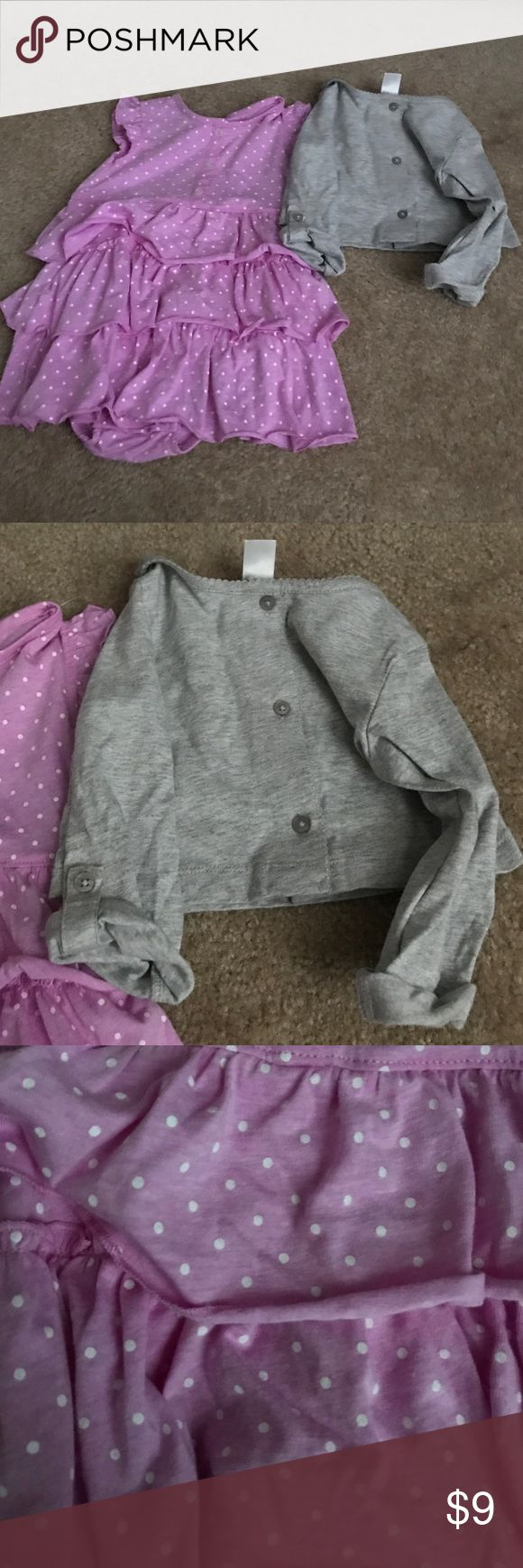 Carters two piece nwt dress NWT carters dress 24 months Purple and gray sfpf home Carter's Dresses Casual