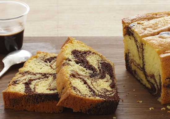 Fudge Marble Pound Cake  | Makes a nice gift | very moist and yummy | quick bread / cake | made in loaf pan