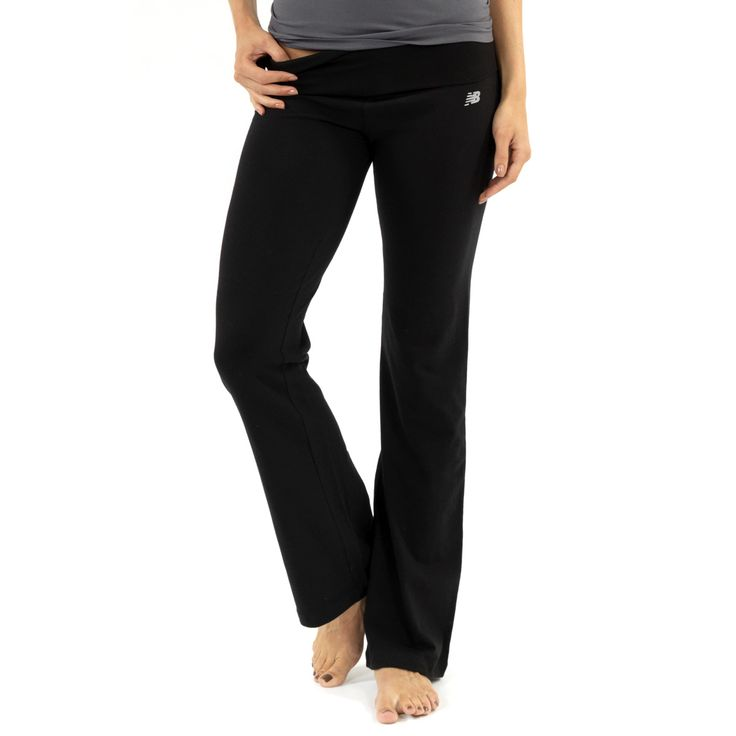 New Balance Fold Over Lounge Pants – Black