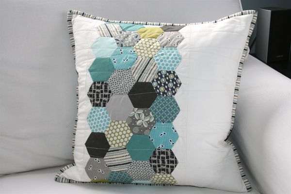 There are a couple of great hexagon pillows on this blog that would make great card inspiration.