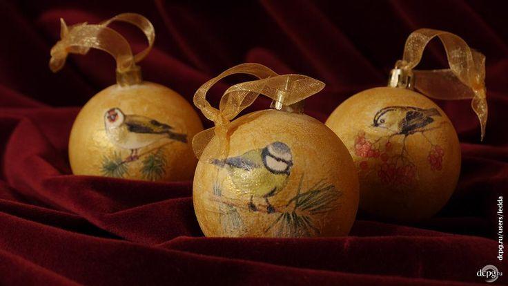 Декупаж - Сайт любителей декупажа - DCPG.RU   Золотое Рождество... и не только