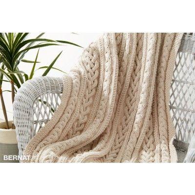 Free Intermediate Throw Knit Pattern | Bernat | Yarnspirations | Bernat Maker | Free Pattern