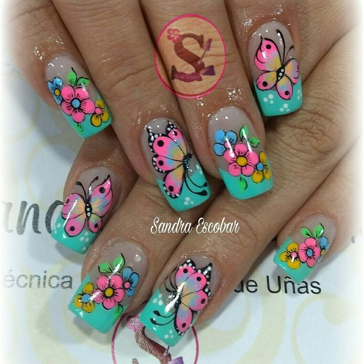 35 best uñas mariposa images on Pinterest