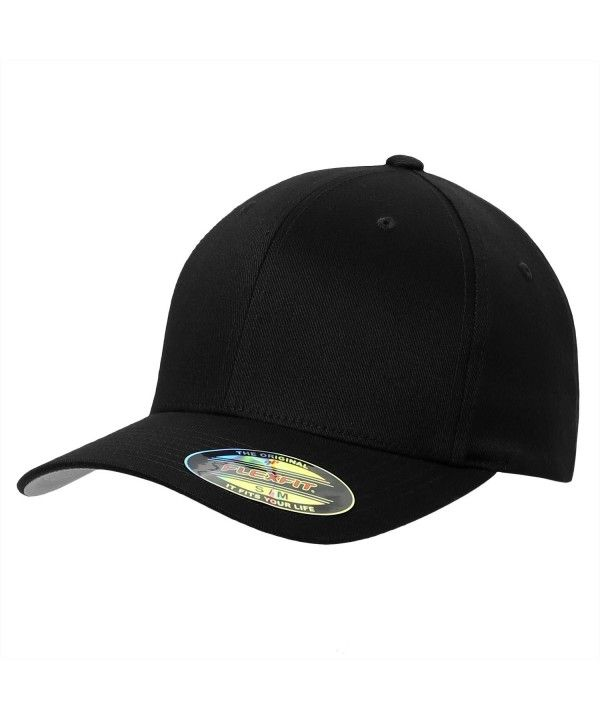 f58aa9ff60661 Flexfit Premium Original Yupoong 6277 Wooly Combed Twill 6 Panel Cap Black  CO11LNCZ137 - Hats   Caps
