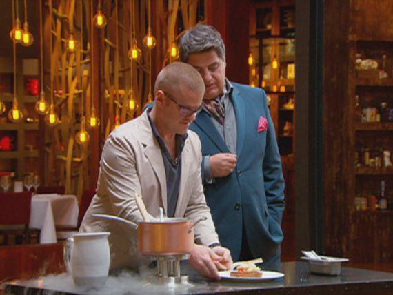 Heston makes a bacon and egg ice-cream - yum!