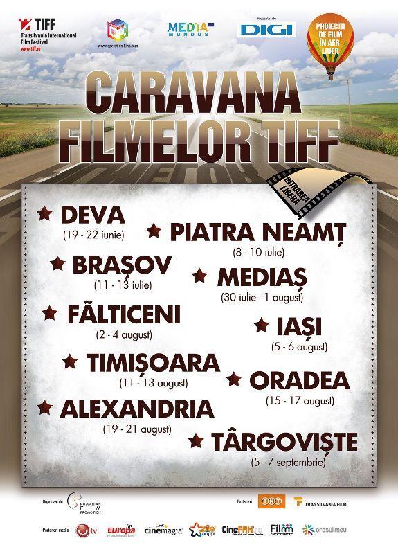 Caravana Filmelor TIFF revine în această vară în oraşul tău!