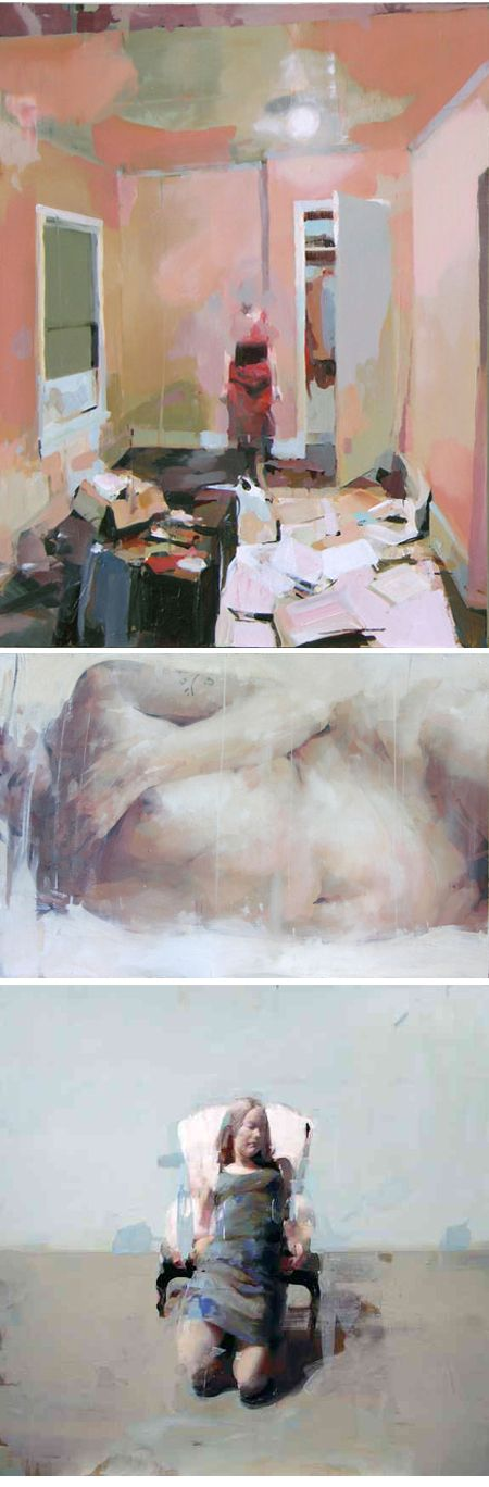 """Alex Kanevsky. American contemporary classical painter with an impressionistic """"motion blurred"""" of style of oil painting."""