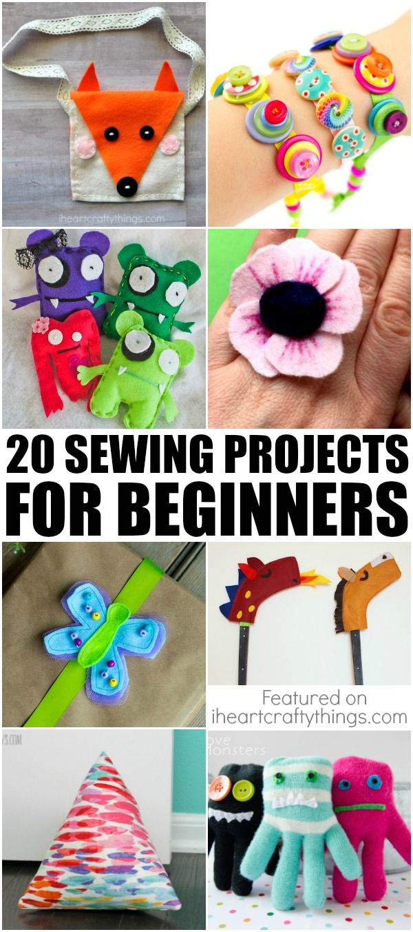 If you have a child who wants to learn how to sew-then this is the roundup for you! 20 sewing projects for beginners!