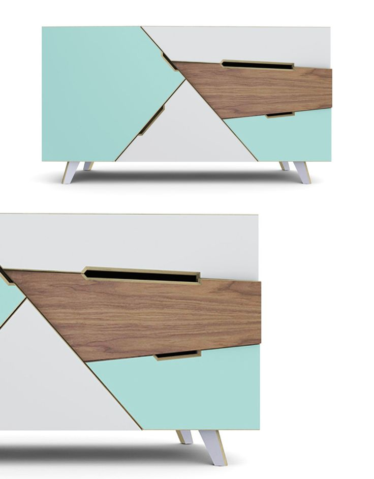 TANGRAM Sideboard | Designer: At-once I would do different colors but like the concept!