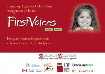 First Voices: Aboriginal language information and database