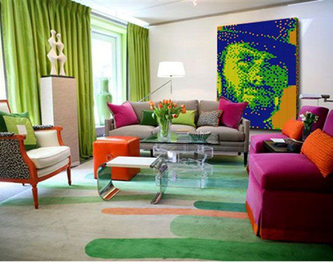 63 Best Living Rooms In The Style Of Pop Art Images On Pinterest