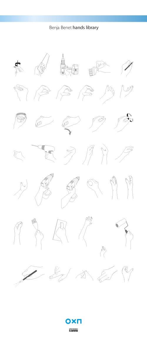 #hands #manos #illustration #resources Librería de manos para Adobe Illustrator   Benja Benet