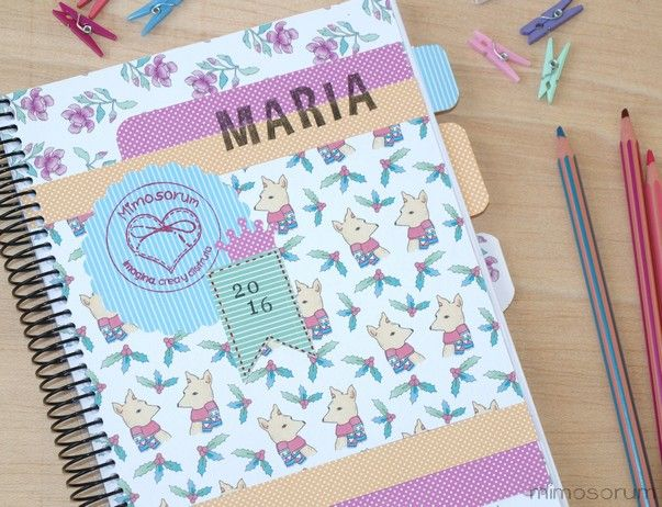 MIMOSORUM : Cómo hacer Portada para Agenda - Diy: Notebook Covers