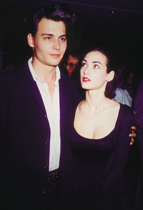 Johnny Depp & Winona Ryder at the 'Mermaids' premiere ...