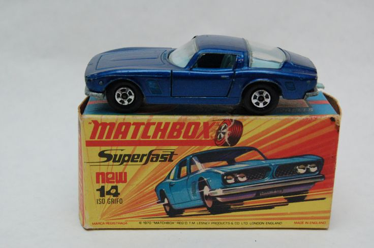Matchbox Lesney SuperFast  #14 Iso Griffo with Original Box Transitional Wheels Toy collection now for sale by RememberWhenToys on Etsy