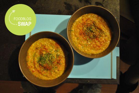 Foodblogswap: hartverwarmende wortel/pastinaaksoep met groenten uit eigen tuin