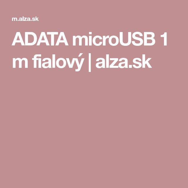 ADATA microUSB 1 m fialový | alza.sk