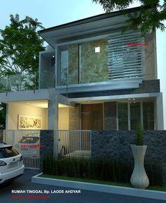 denah rumah minimalis model rumah 2 lantai 1