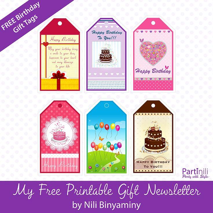 Ingyenes Nyomtatható Születésnapi ajándék címkék