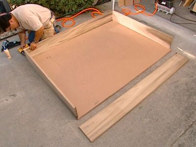 How to build a Murphy bed. Step 1. Email to my husband. hee hee hee