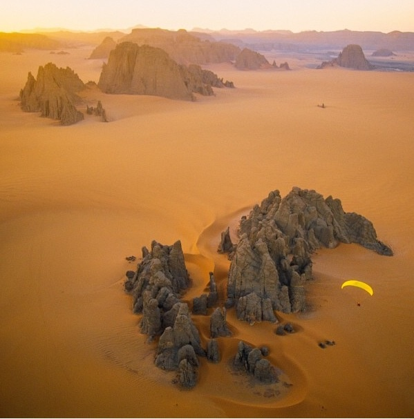 Surreal landscape of the Central Sahara by photographer George Steinmetz