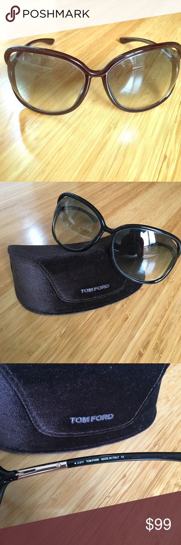 Tom Ford 🕶 Raquel Style Tom Ford Raquel shades with velvet Tom Ford case. I do not have the cleaning cloth unfortunately.  Style is TF76. Color is black. Tom Ford Accessories Sunglasses