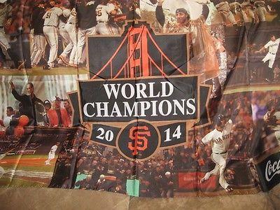 2015 SF Giants SGA 2014 World Series Banner New by Coke Cola   Herta Store