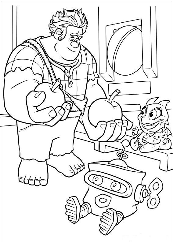 sugar rush coloring pages - photo#19