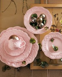 pretty pink dishes from horchow, luv luv