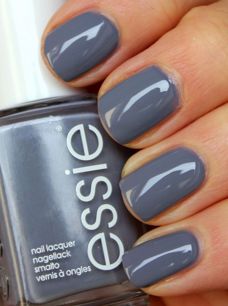 Essie Petal Pushers - This is IT.  I finally found my suitable grey!  Amen! Nail Design, Nail Art, Nail Salon, Irvine, Newport Beach