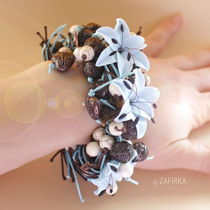 Цветочные браслетики от Зафирки