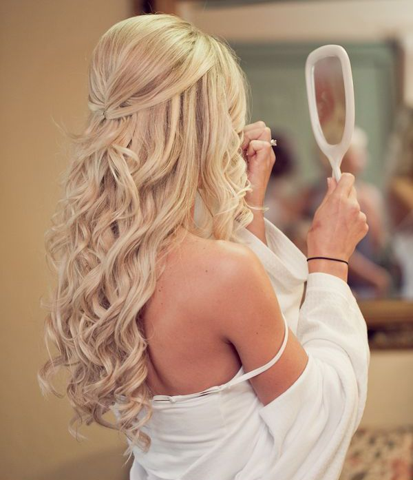 wedding hair <3 long hair - curls, half up half down