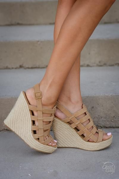 CHINESE LAUNDRY Believe Me Wedges - Camel - Closet Candy Boutique
