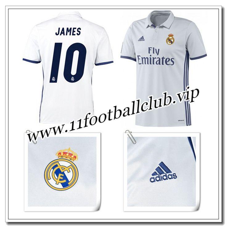 Le Nouveau Maillot de Real Madrid JAMES 10 Domicile Blanc 2016/17 Personnalisable
