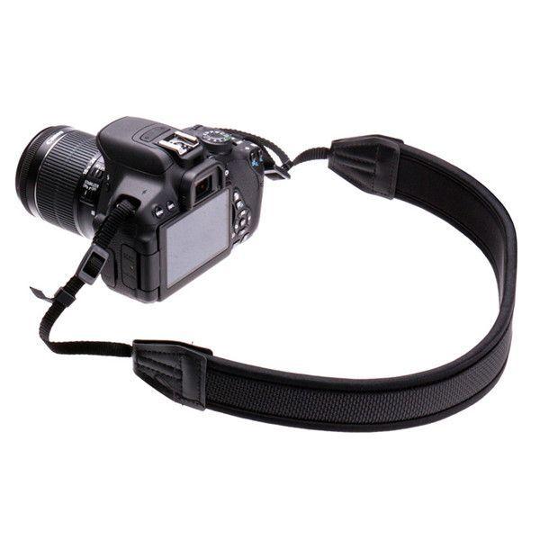 Neopreno negro de la correa de la correa ajustada para Canon Nikon Sony cámara réflex digital Pentax
