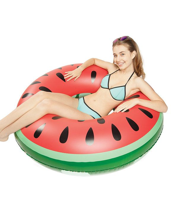 Look at this White Giant Watermelon Slice Pool Float on #zulily today!