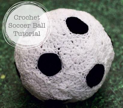 Molde para hacer un balon de futbol soccer a crochet