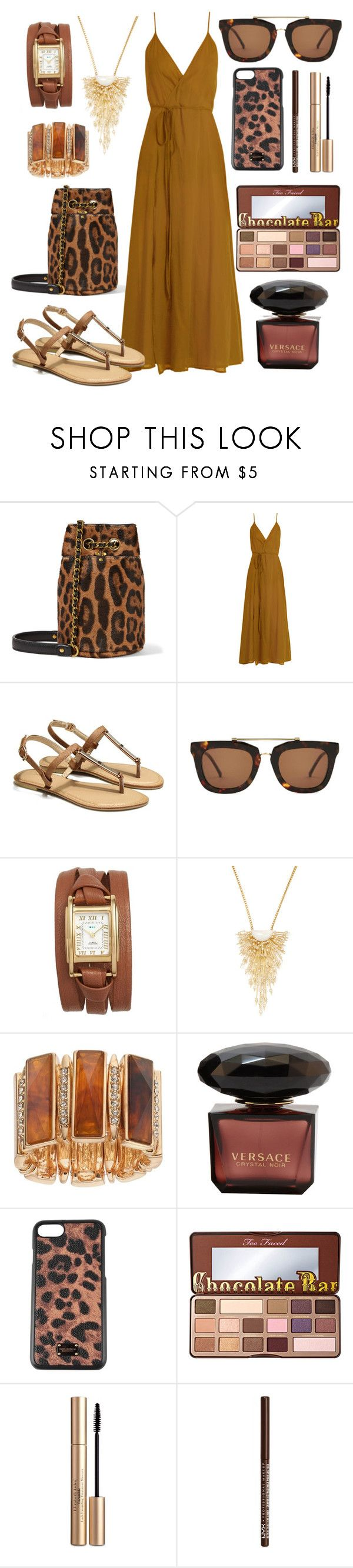 """""""Browns"""" by girlygorgeousness ❤ liked on Polyvore featuring Jérôme Dreyfuss, Loup Charmant, Kaibosh, La Mer, Maiyet, Jennifer Lopez, Dolce&Gabbana, Too Faced Cosmetics, Elizabeth Arden and NYX"""