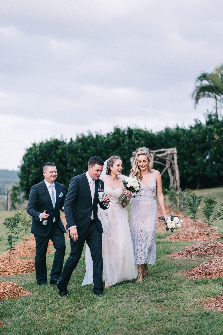 Will + Jess Byron Bay Wedding at Fig Tree Restaurant   Bridal party – See more at www.benwhitmorephoto.com  #byronbaywedding #weddingphotography #destinationwedding #bridalparty #weddingdress