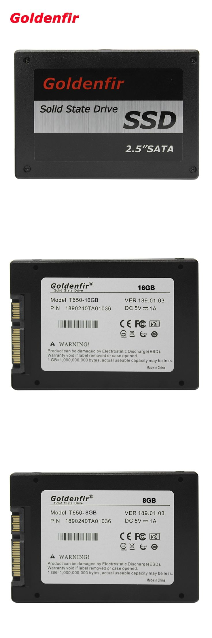 Goldenfir SSD 16gb 8gb  laptop drive solid state ssd 16GB 8GB  hard drive disk for laptop desktop pc ssd 16GB