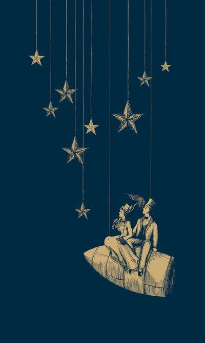 "Le Voyage print - via society6.com Nice art for ""Starry Night Bedroom"""