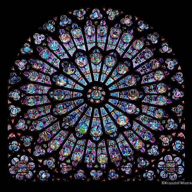 Photo From Krzysztof Mizera Rayonnant North Rose Window Of The Cathedrale Notre Dame De Paris