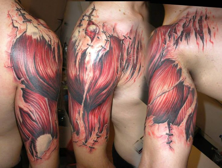 muscle anatomy tattoo
