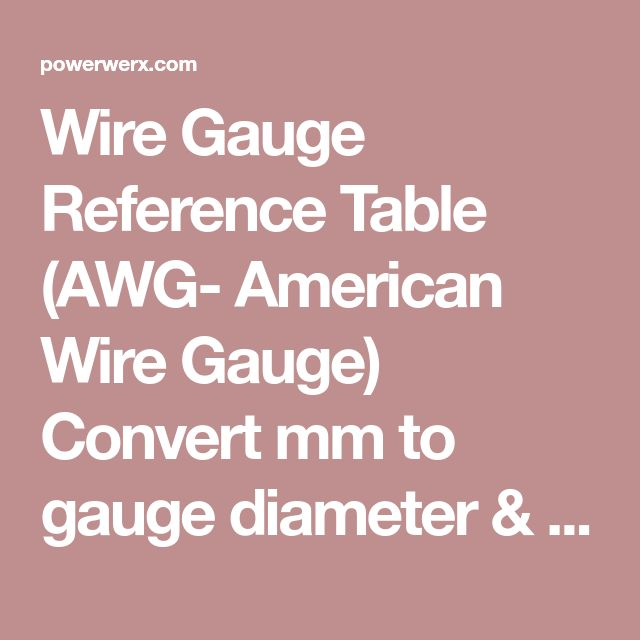 Wire Gauge Reference Table (AWG- American Wire Gauge) Convert mm to gauge diameter & vice versa  Includes AWG(US), SWG(Standard UK), & BWG(Birmingham- old UK)