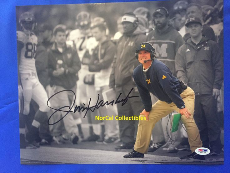 JIM HARBAUGH SIGNED 11X14 PHOTO MICHIGAN WOLVERINES BO SCHEMBECHLER PSA/DNA 2 | eBay