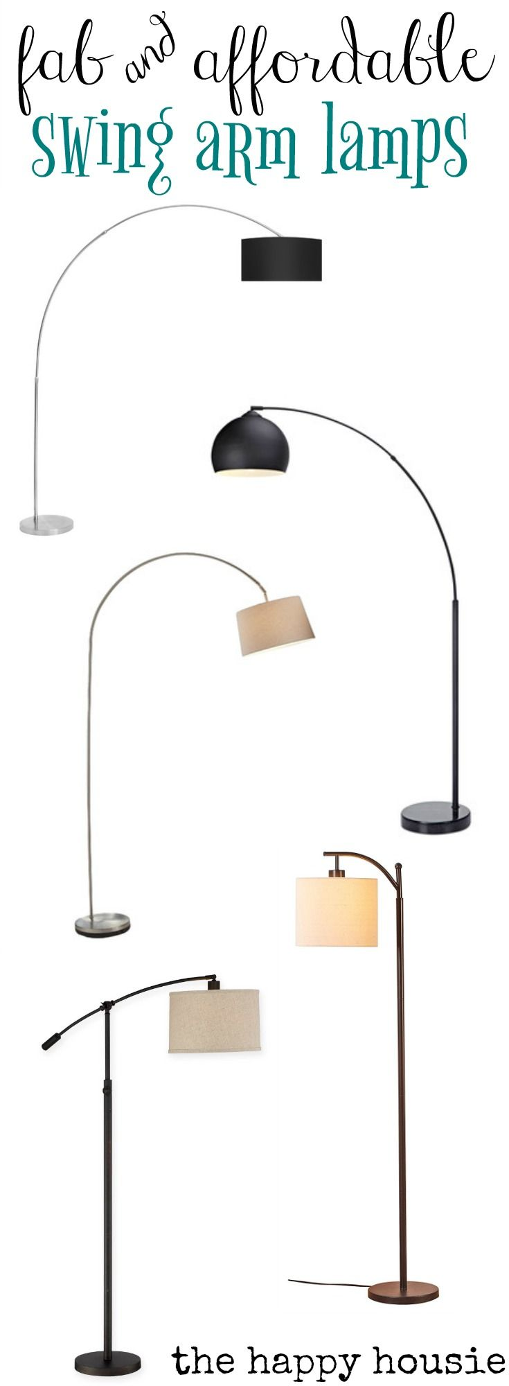 Fridays Finds Swing Arm Floor Lamps And Our Winter Living Room