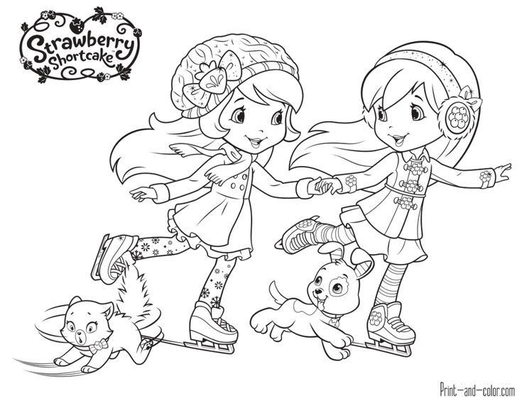 Strawberry Shortcake coloring pages | Print and Color.com ...