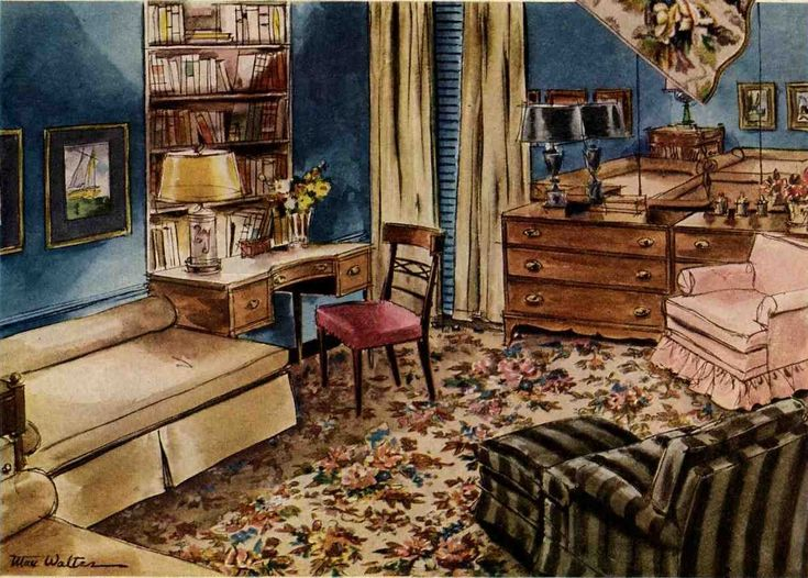 88 Best Images About 1940s Living Room On Pinterest