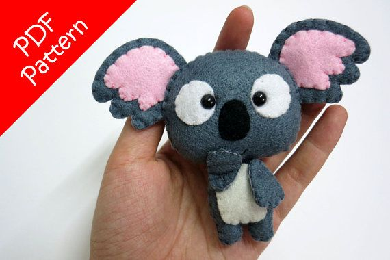 Koala Plush PDF Pattern Instant Digital Download