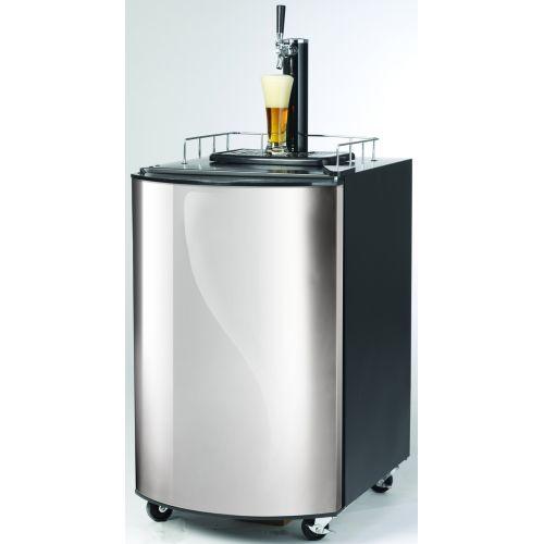 Refroidisseur de bière, 815x515x665mm, 128litres, avant en acier inox